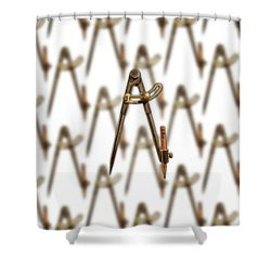 Iron Compass Pattern Shower Curtain by YoPedro
