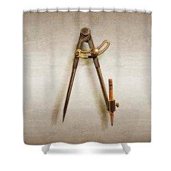 Iron Compass Shower Curtain
