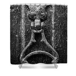 Iron Door Knocker Shower Curtain