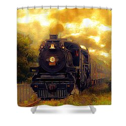 Iron Horse Shower Curtain by Aaron Berg