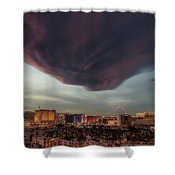 Shower Curtain featuring the photograph Iron Maiden Las Vegas by Michael Rogers