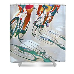 Iron Man Triathlon Shower Curtain