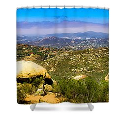 Shower Curtain featuring the photograph Iron Mountain View by T Brian Jones