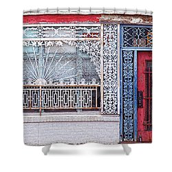 Shower Curtain featuring the photograph Iron Works by Elena Nosyreva