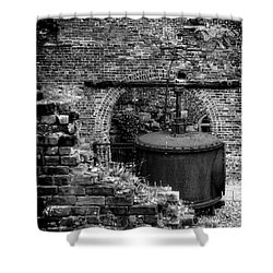 Ironworks Remains Shower Curtain