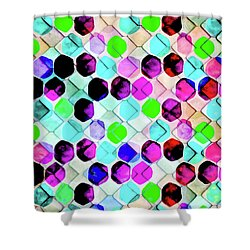 Irregular Hexagon Shower Curtain