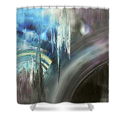 Shower Curtain featuring the painting Irresistible Impulses by Tatiana Iliina
