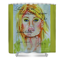 Shower Curtain featuring the painting Irresistible by P J Lewis