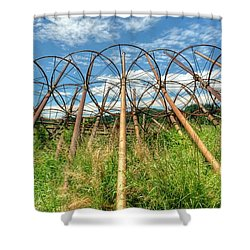Irrigation Pipes 1 Shower Curtain by Jerry Sodorff