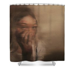 Is Everyone Looking? Shower Curtain by Cherise Foster
