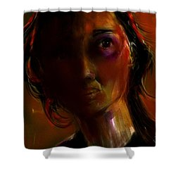 Shower Curtain featuring the painting Isabella by Jim Vance