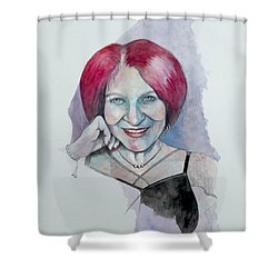 Shower Curtain featuring the painting Isabella by Ray Agius