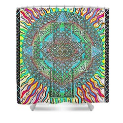Shower Curtain featuring the painting Isaiah Bible Code by Hidden Mountain