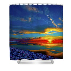 Shower Curtain featuring the photograph Isand Sunset by Norman Hall