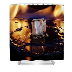 Shower Curtain featuring the photograph Isengard Abstract by Rico Besserdich