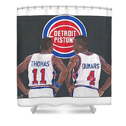 Isiah Thomas And Joe Dumars Shower Curtain