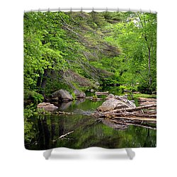 Isinglass River, Barrington, Nh Shower Curtain
