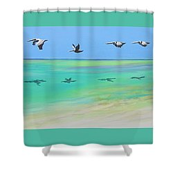 Islamorada Five Shower Curtain by Anne Marie Brown