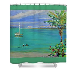 Islamorada Snorkeling Shower Curtain by Anne Marie Brown