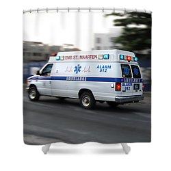 Island Ambulance Shower Curtain