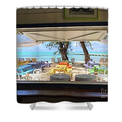 Island Bar View Shower Curtain