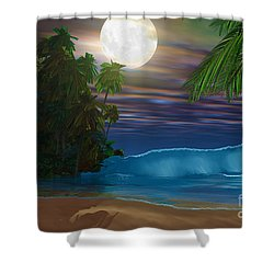 Island Beach Shower Curtain by Corey Ford