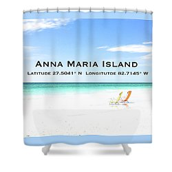 Island Breezes Shower Curtain by Margie Amberge