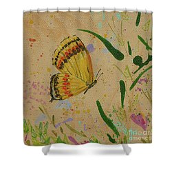 Island Butterfly Series 1 Of 6 Shower Curtain by Gail Kent