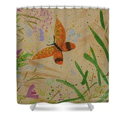 Island Butterfly Series 3 Of 6 Shower Curtain by Gail Kent