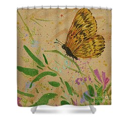 Island Butterfly Series 4 Of 6 Shower Curtain by Gail Kent