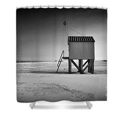 Island Cabin Shower Curtain
