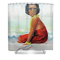 Island Child Shower Curtain