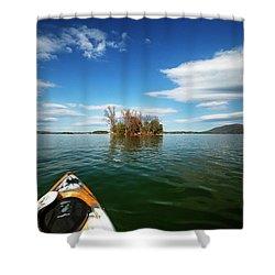 Shower Curtain featuring the photograph Island Destination by Alan Raasch