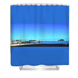 Island Dock Shower Curtain