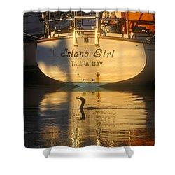 Island Girl Shower Curtain by David Lee Thompson