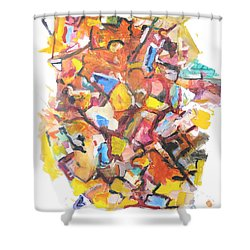 Island In A Sea Of Lightness Shower Curtain