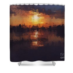 Island In The City Shower Curtain