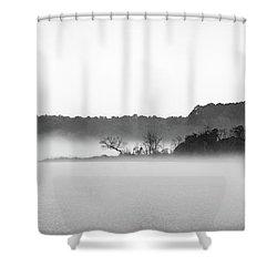 Island In The Fog Shower Curtain