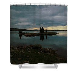 Shower Curtain featuring the photograph Island In The Storm by Karen Shackles