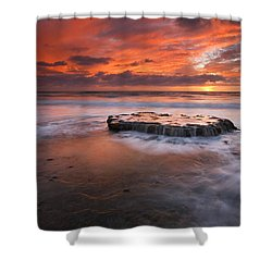 Island In The Storm Shower Curtain by Mike  Dawson