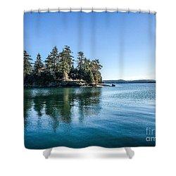 Island In West Sound Shower Curtain