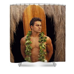 Island Man Shower Curtain by Dana Edmunds - Printscapes