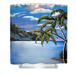 Island Night Glow Shower Curtain