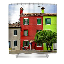 Island Of Burano Tranquility Shower Curtain