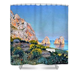 Island Of Capri - Gulf Of Naples Shower Curtain