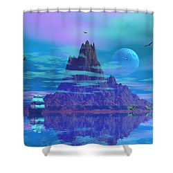 Island Of Lost Souls Shower Curtain by Mark Blauhoefer