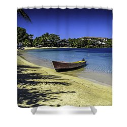 Island Of Roatan Beach Shower Curtain by Gordon Engebretson