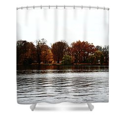 Island Of Trees Shower Curtain by Ana Mireles