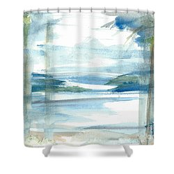Shower Curtain featuring the painting Island Paradise by Reed Novotny