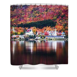 Island Pond Vermont Shower Curtain